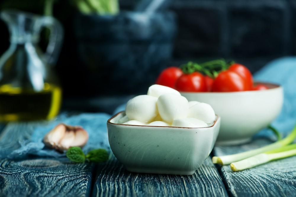 mozzarella bocconcini in a bowl