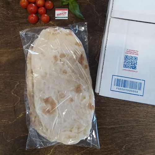 flatbread + shipping box